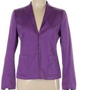Akris Punto Dot Jacquard Purple Textured Blazer 14